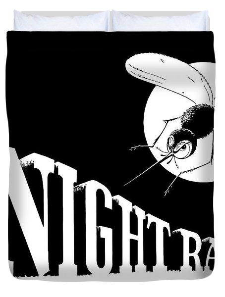 Night Raider Ww2 Malaria Poster Duvet Cover