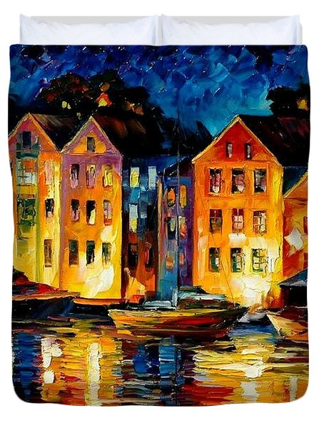 Night Resting Original Oil Painting  Duvet Cover by Leonid Afremov