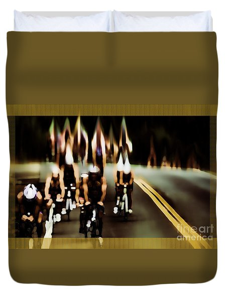 Duvet Cover featuring the photograph Night Rider by Mim White