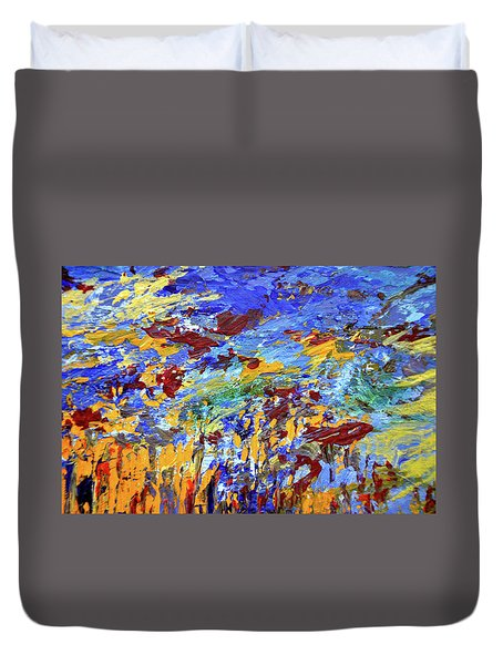 Night Sea Scape Duvet Cover