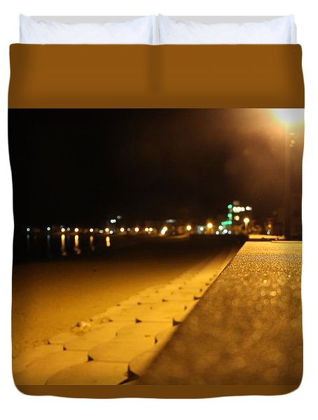 Night Seaside Duvet Cover by Satoshi Nagao