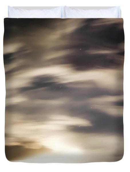 Duvet Cover featuring the photograph Night Sky 1 by Leland D Howard