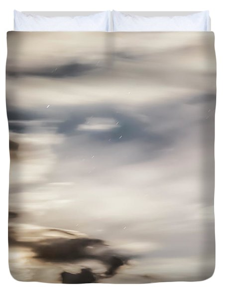 Duvet Cover featuring the photograph Night Sky 2 by Leland D Howard
