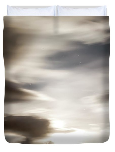 Duvet Cover featuring the photograph Night Sky 4 by Leland D Howard