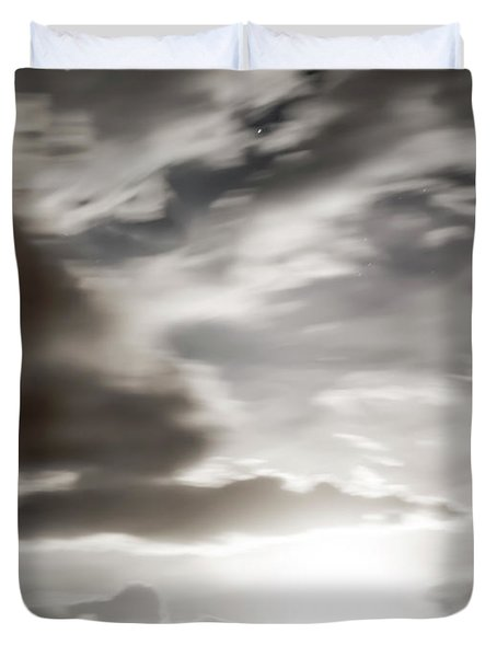 Duvet Cover featuring the photograph Night Sky 5 by Leland D Howard