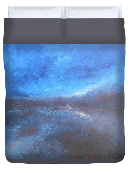 Duvet Cover featuring the painting Night Sky by Jane See