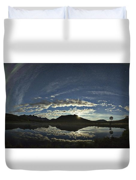 Night Sky Panorama Duvet Cover