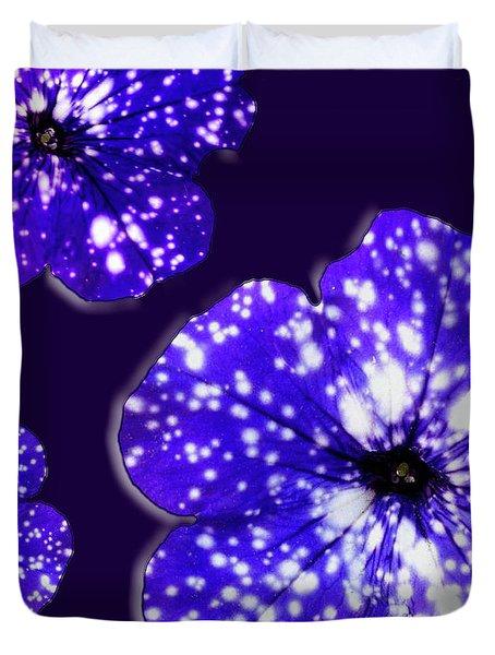 Night Sky Petunias Duvet Cover by Tara Hutton