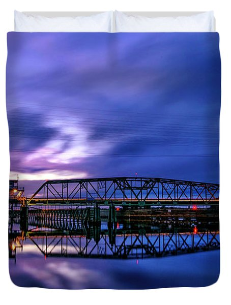 Night Swing Bridge Duvet Cover