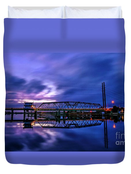 Night Swing Bridge Duvet Cover
