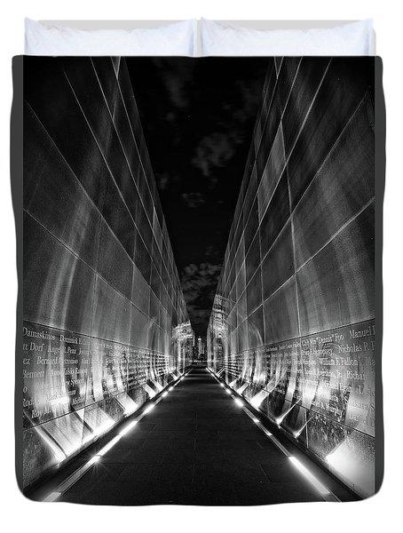 Night Time At Empty Sky Memorial Duvet Cover