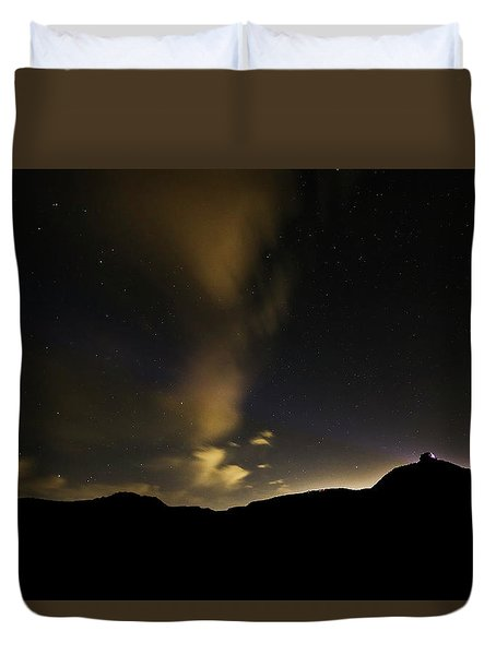 Night Time At Palo Duro Canyon State Park - Texas Duvet Cover