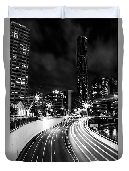 Night Time In The City  Duvet Cover
