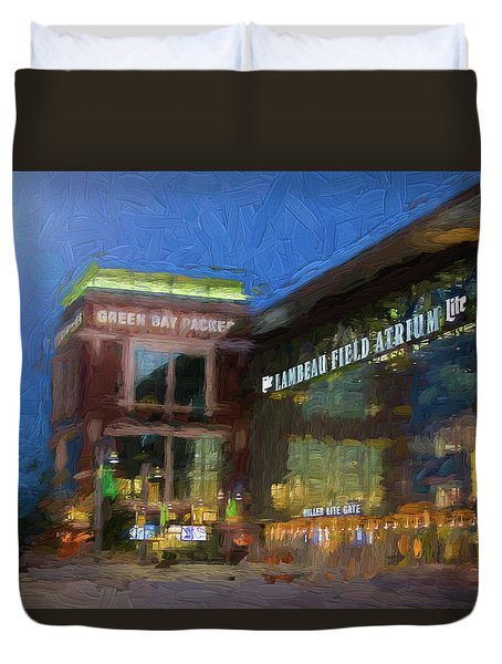 Night Time Lambeau Duvet Cover