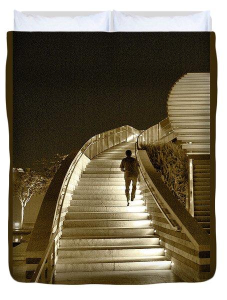 Night Time Stairway Duvet Cover by Ben and Raisa Gertsberg
