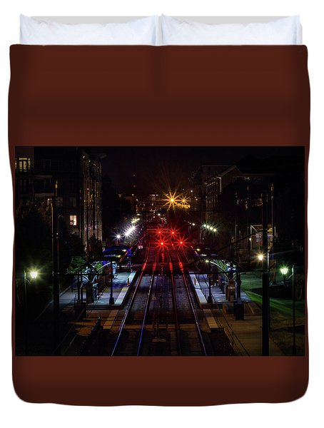 Night Tracks Duvet Cover