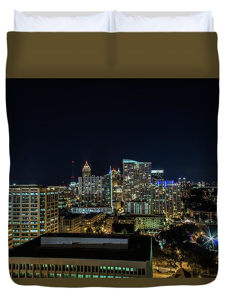 Night View  Duvet Cover