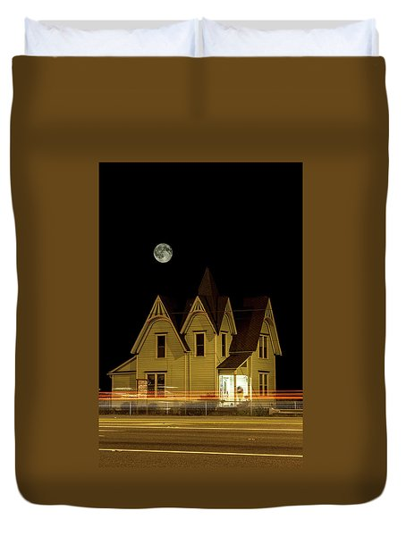 Night View Duvet Cover by Tony Locke