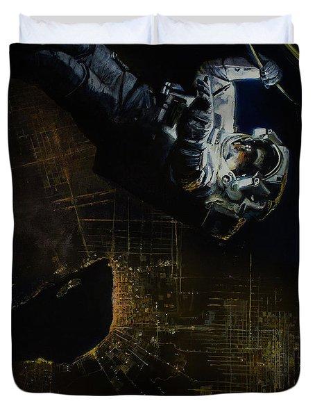 Night Walk 2 Duvet Cover by Simon Kregar