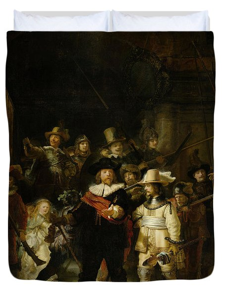 Night Watch, 1642 Duvet Cover