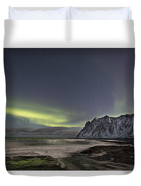 Night Waves Duvet Cover