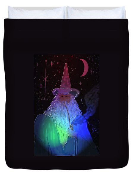 Duvet Cover featuring the painting Night Wizard by Kevin Caudill