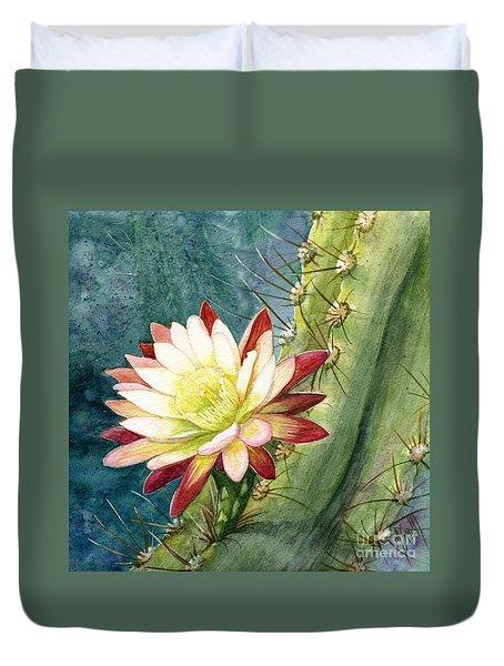 Nightblooming Cereus Cactus Duvet Cover