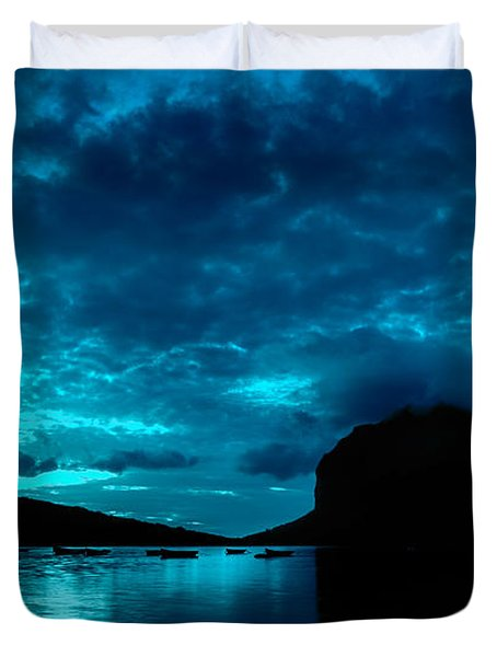 Nightfall In Mauritius Duvet Cover