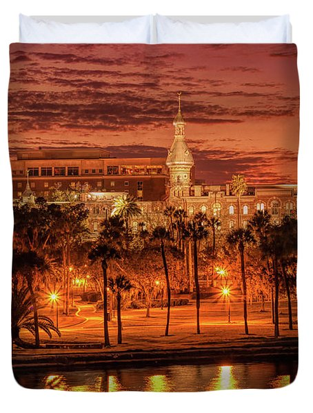 Nightfall In Tampa Duvet Cover