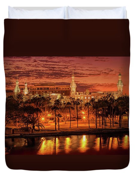 Nightfall In Tampa Duvet Cover