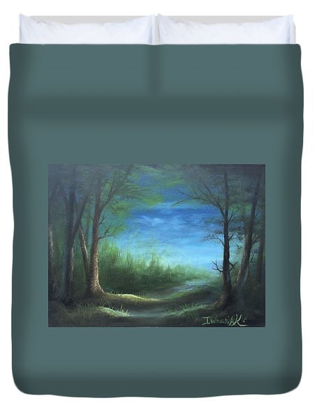 Nightfall In The Boggs  Duvet Cover
