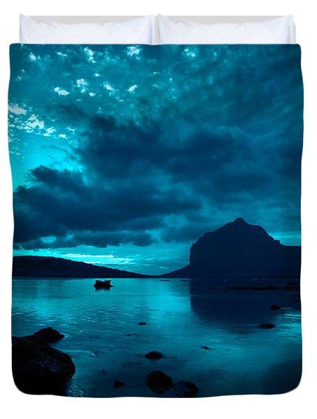 Nightfall Near Le Morne Duvet Cover