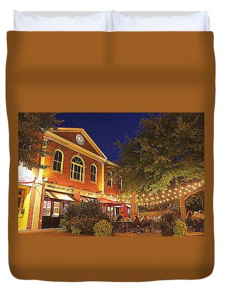 Nightime In Newburyport Duvet Cover