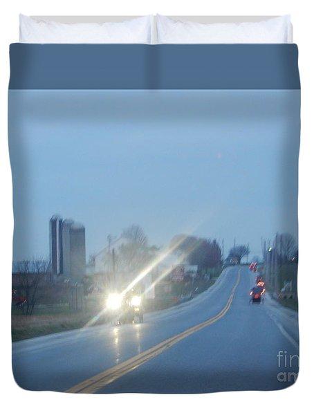 Nightime Travel Duvet Cover