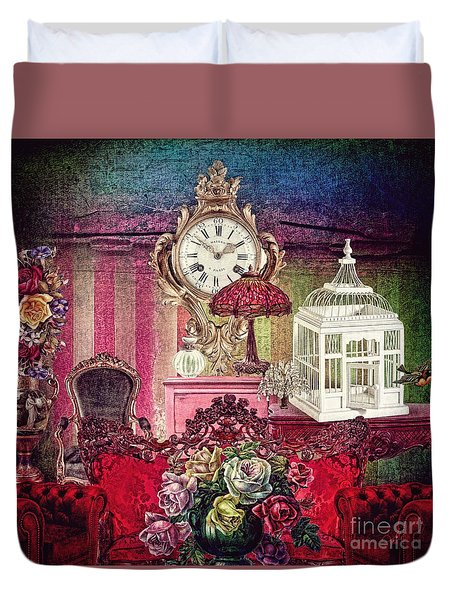 Nightingale Duvet Cover by Mo T