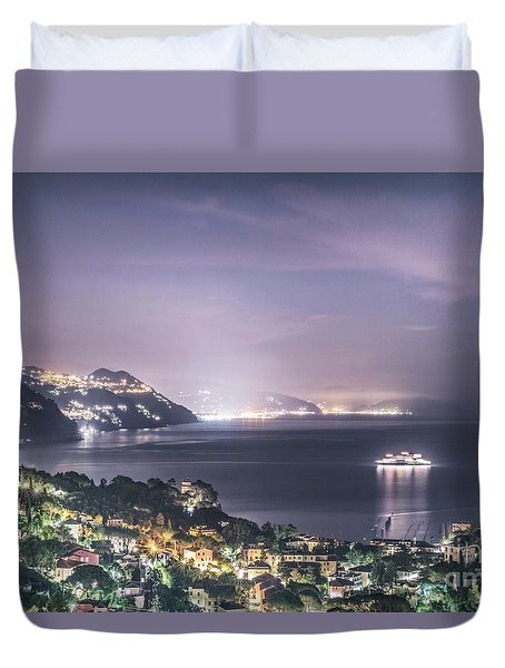 Nights In The Harbor Duvet Cover