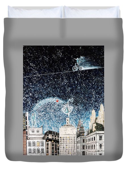 Nights Of Fun Duvet Cover by Graciela Bello