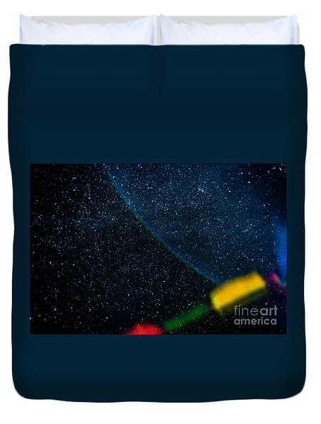 Nightscape Stars In Himalayan Mountain Duvet Cover