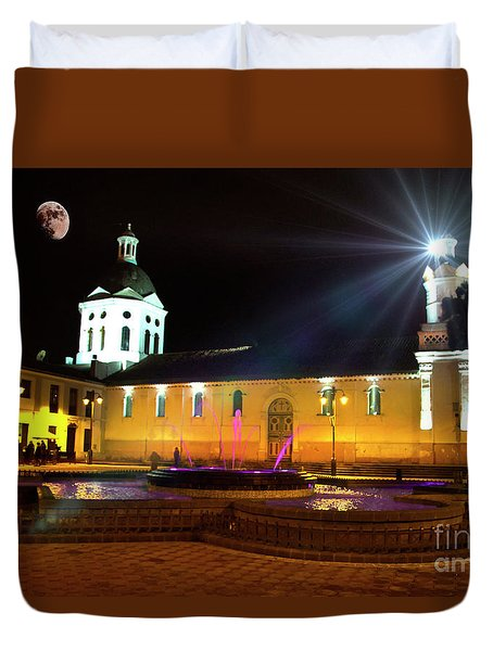 Nighttime At San Sebastian Duvet Cover