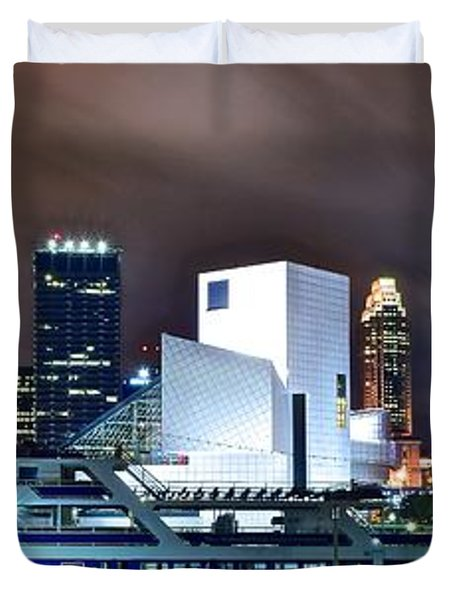 Nighttime At The Lakefront Duvet Cover