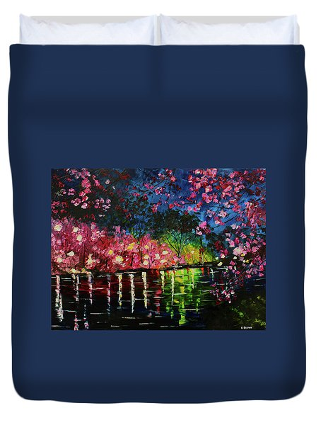 Nighttime Pink Duvet Cover
