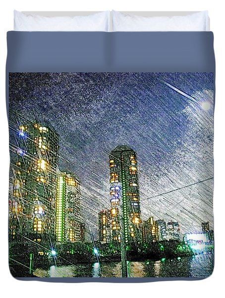 Tokyo River Duvet Cover by Daisuke Kondo