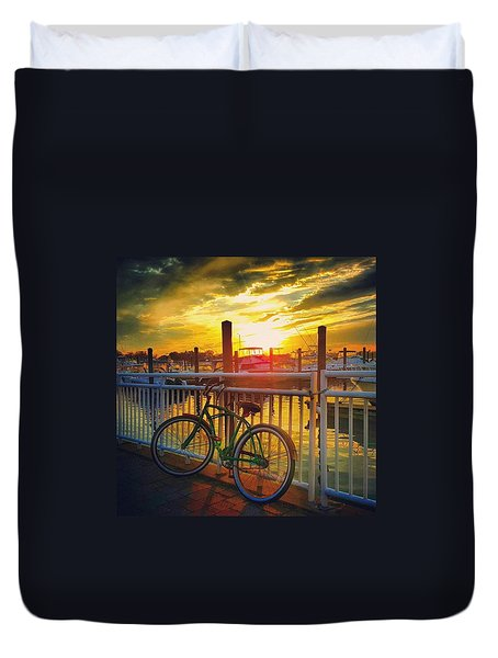 Sunset Ride Duvet Cover