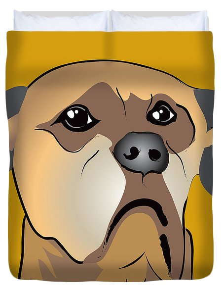 Niki Boxer Dog Portrait Duvet Cover