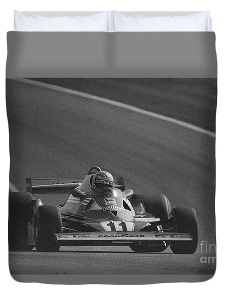 Niki Lauda. 1977 French Grand Prix Duvet Cover