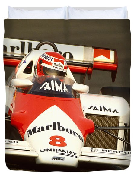 Niki Lauda. 1984 Dutch Grand Prix Duvet Cover