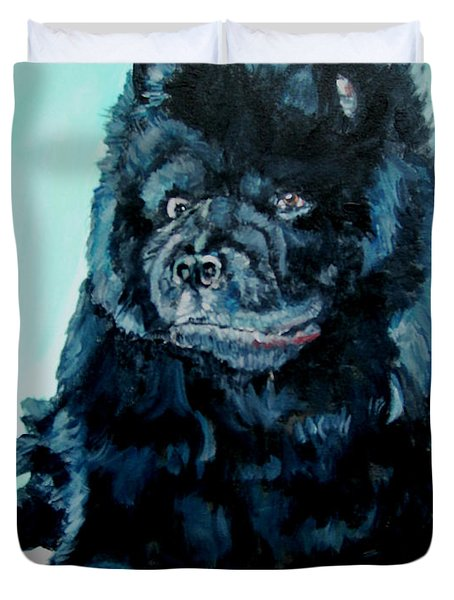 Nikki The Chow Duvet Cover by Bryan Bustard