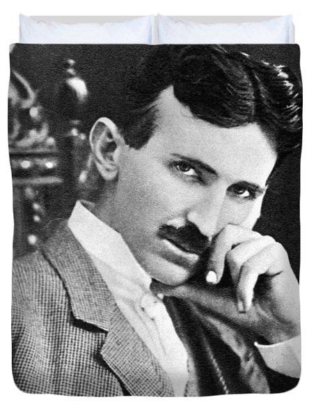Nikola Tesla Duvet Cover