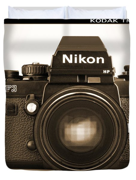 Nikon F3 Hp Duvet Cover by Mike McGlothlen