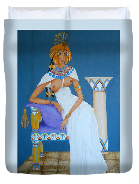 Nile Nymph -- Cleopatra, #1 In Famous Flirts Series Duvet Cover